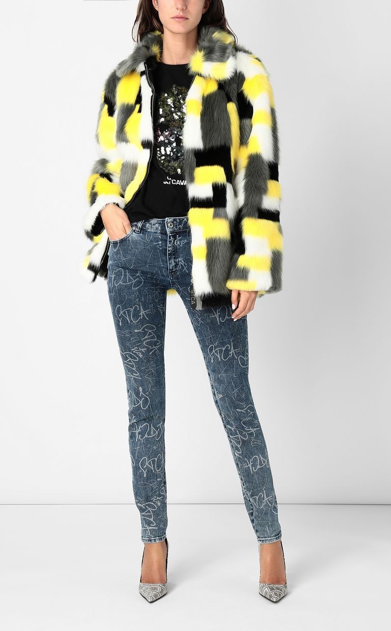 JUST CAVALLI Skinny jeans with logo print Jeans Woman d