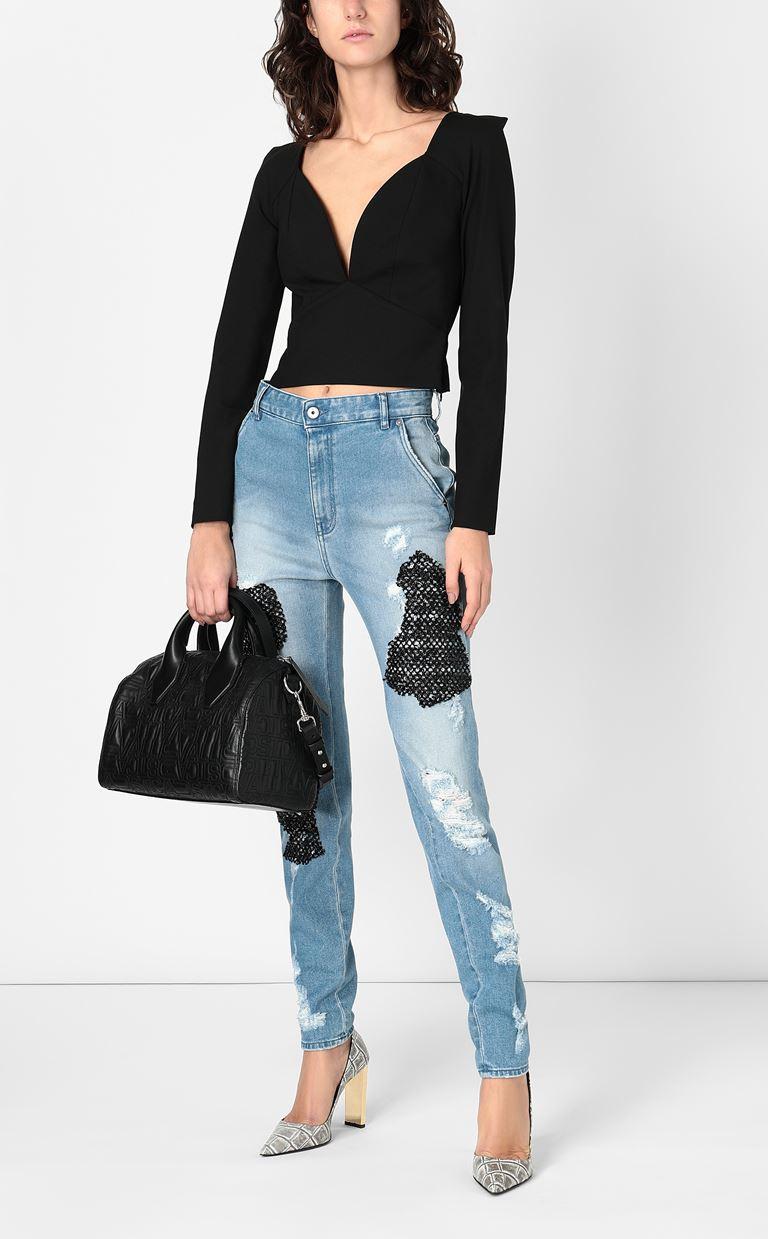 JUST CAVALLI Skinny jeans with mesh inserts Jeans Woman d