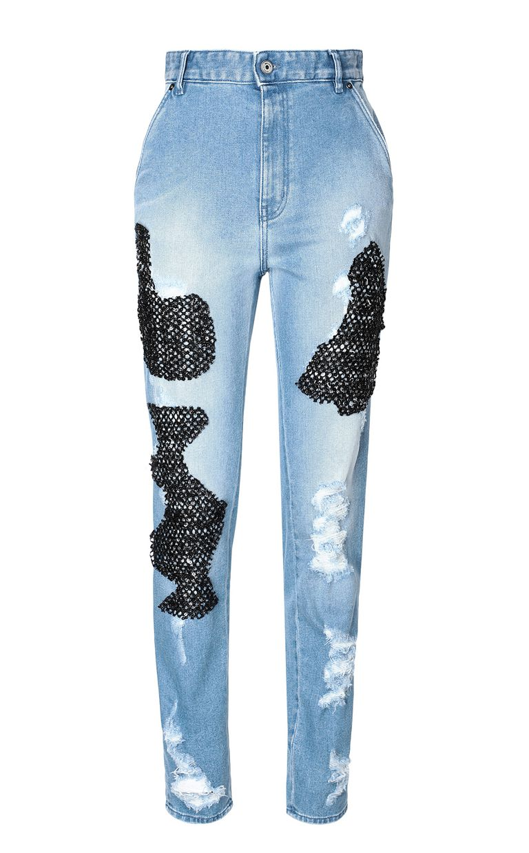 JUST CAVALLI Skinny jeans with mesh inserts Jeans Woman f