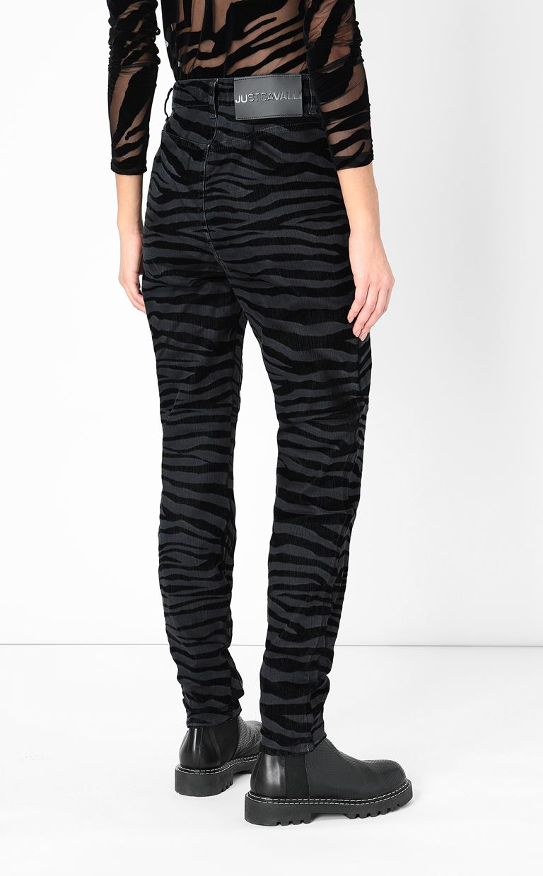 JUST CAVALLI Skinny jeans with zebra stripes Jeans Woman a