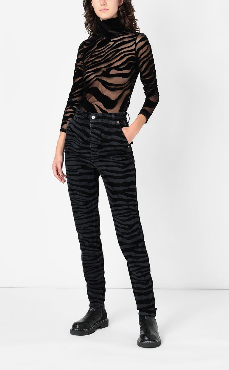 JUST CAVALLI Skinny jeans with zebra stripes Jeans Woman d