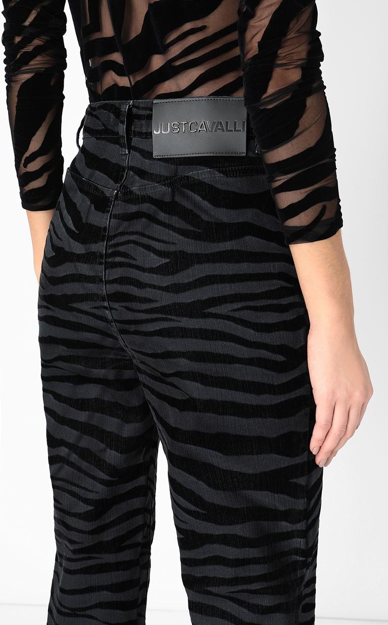 JUST CAVALLI Skinny jeans with zebra stripes Jeans Woman e