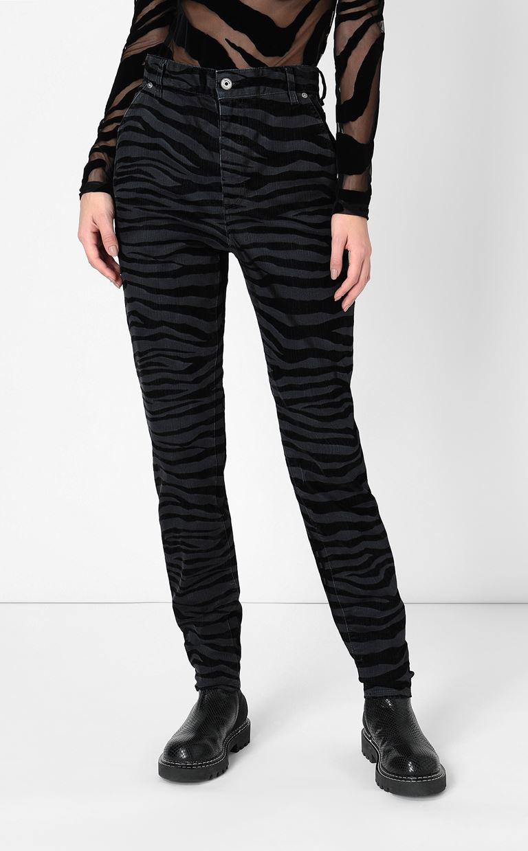 JUST CAVALLI Skinny jeans with zebra stripes Jeans Woman r