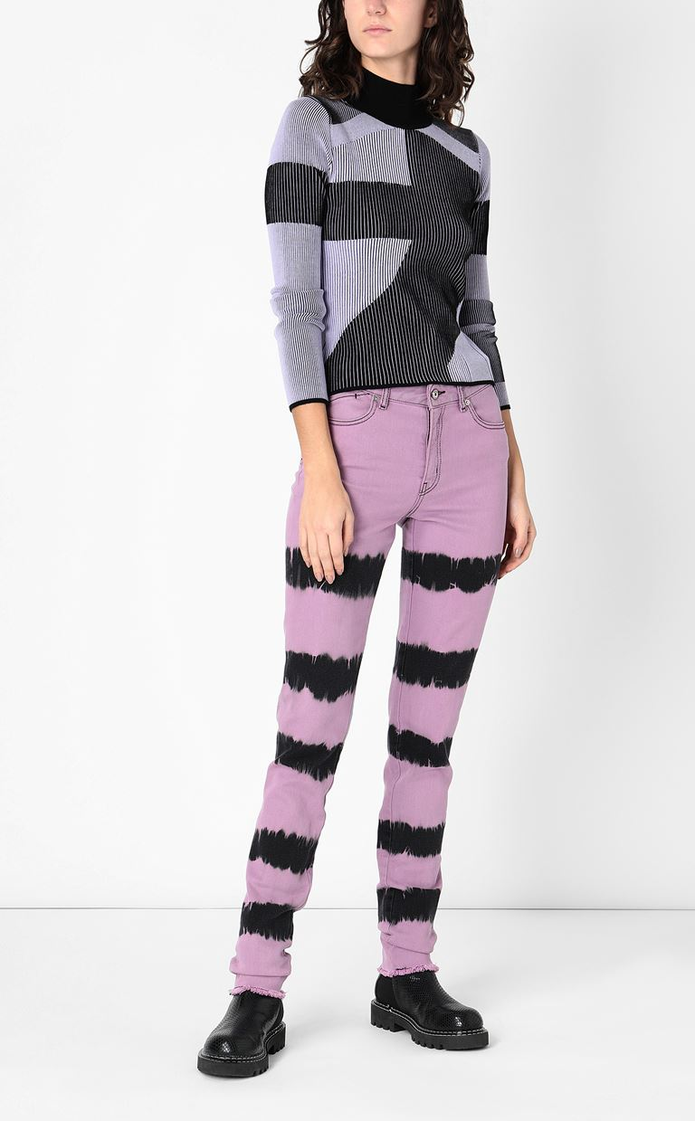 JUST CAVALLI Skinny jeans with tie-dyed pattern Jeans Woman d