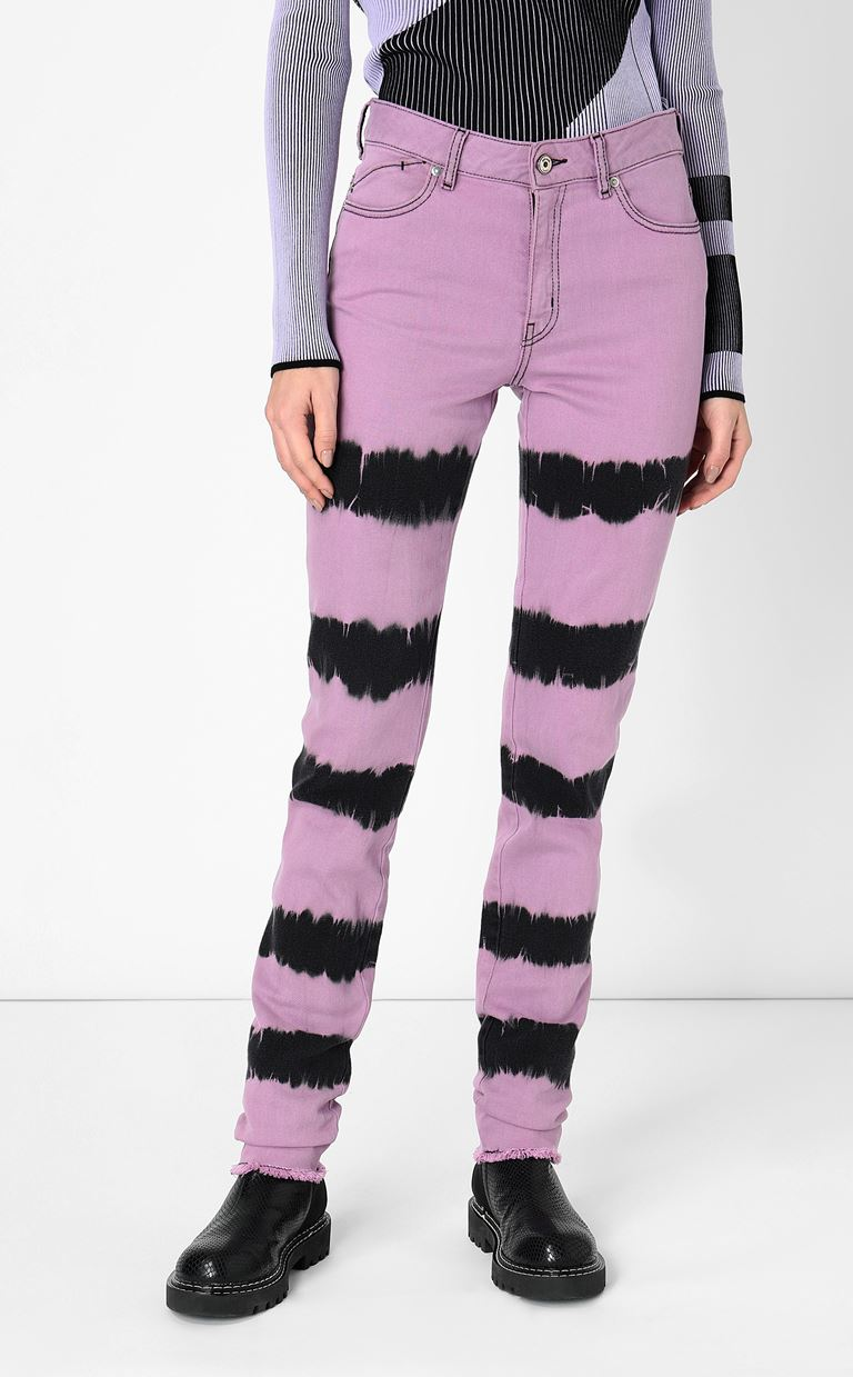 JUST CAVALLI Skinny jeans with tie-dyed pattern Jeans Woman r