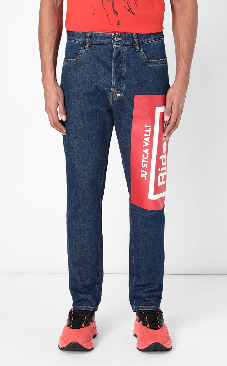 JUST CAVALLI Jeans with print Jeans Man r