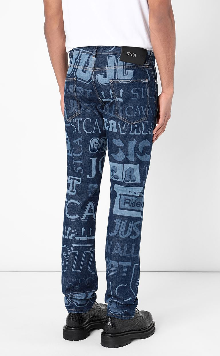 JUST CAVALLI Jeans with logo Jeans Man a