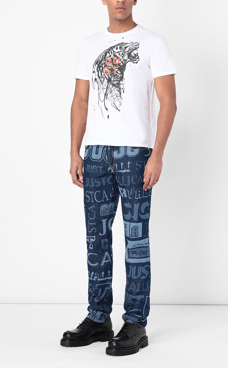 JUST CAVALLI Jeans with logo Jeans Man d