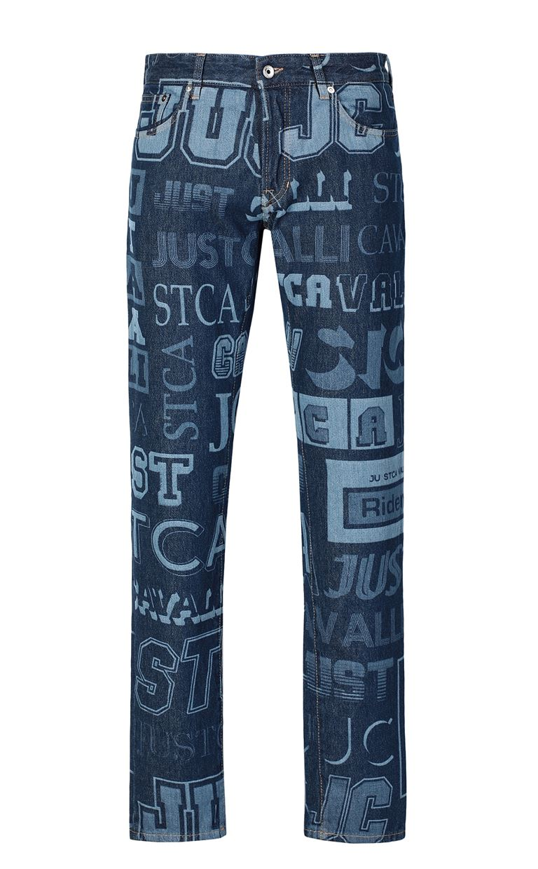 JUST CAVALLI Jeans with logo Jeans Man f