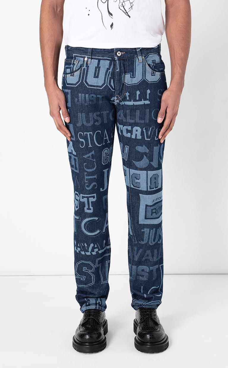 JUST CAVALLI Jeans with logo Jeans Man r