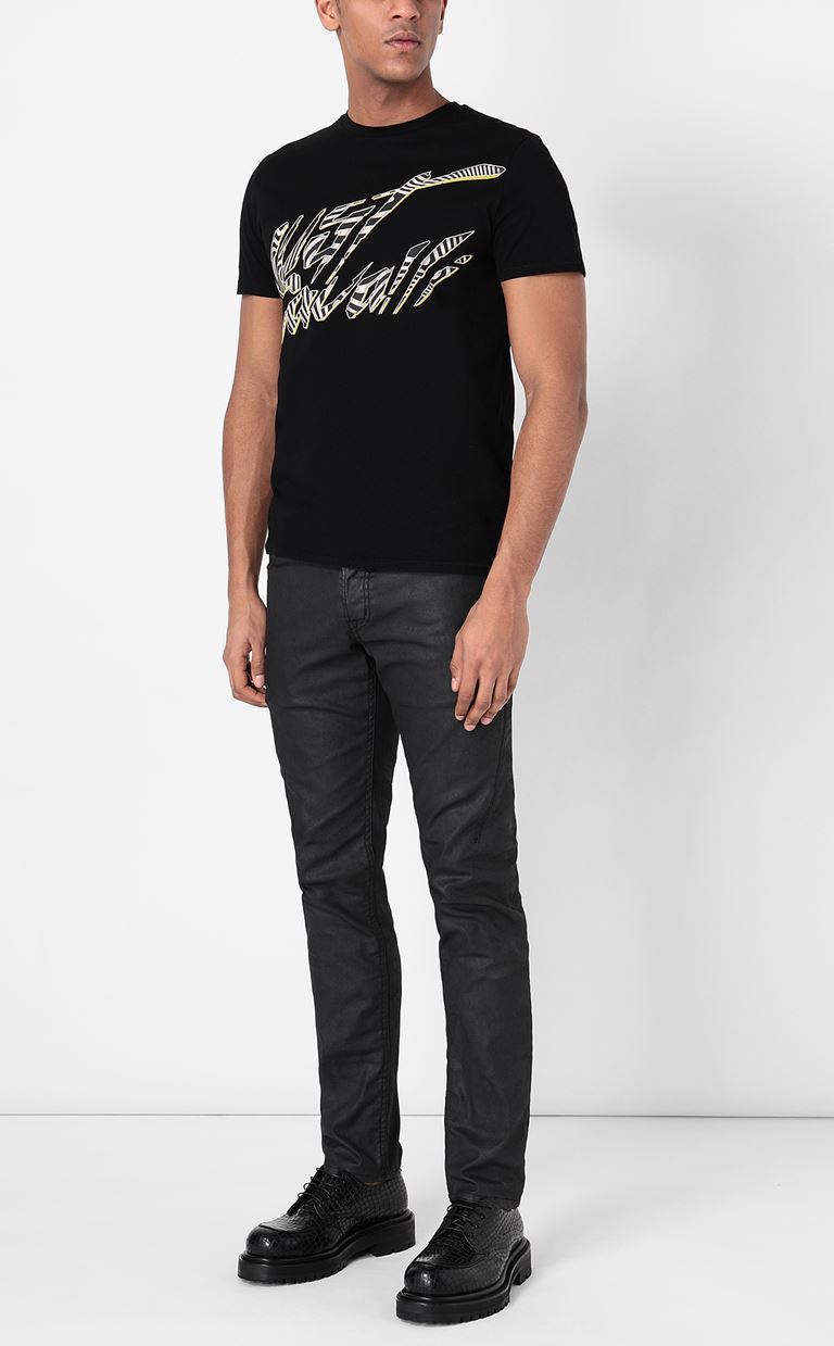 JUST CAVALLI Leather-effect jeans Jeans Man d