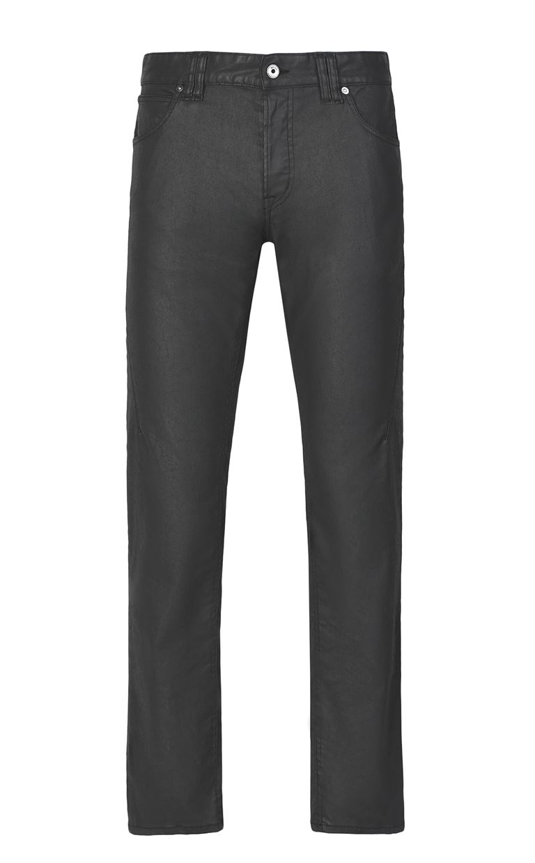 JUST CAVALLI Leather-effect jeans Jeans Man f