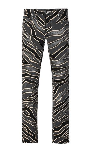 JUST CAVALLI Jacket Man Zebra-striped bomber jacket f