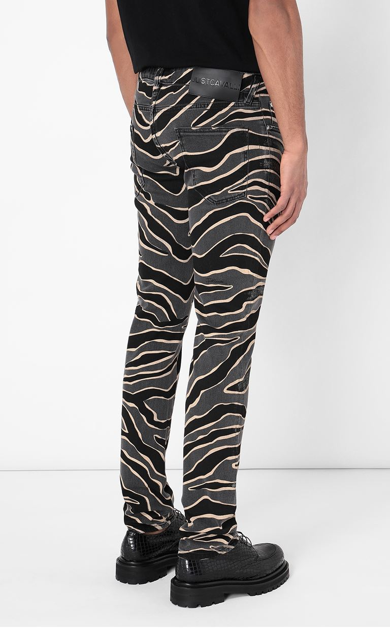 JUST CAVALLI Jeans with animal patterning Jeans Man a