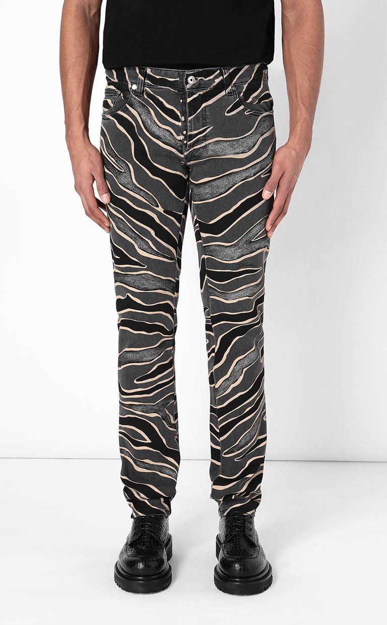 JUST CAVALLI Jeans with animal patterning Jeans Man d