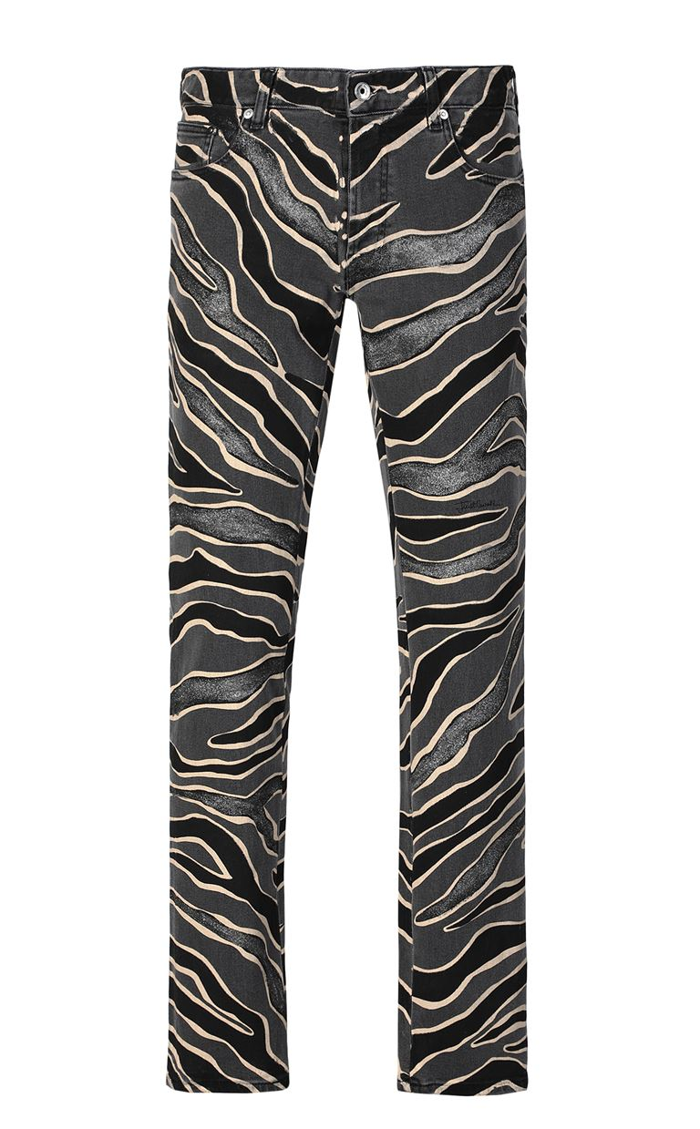 JUST CAVALLI Jeans with animal patterning Jeans Man f