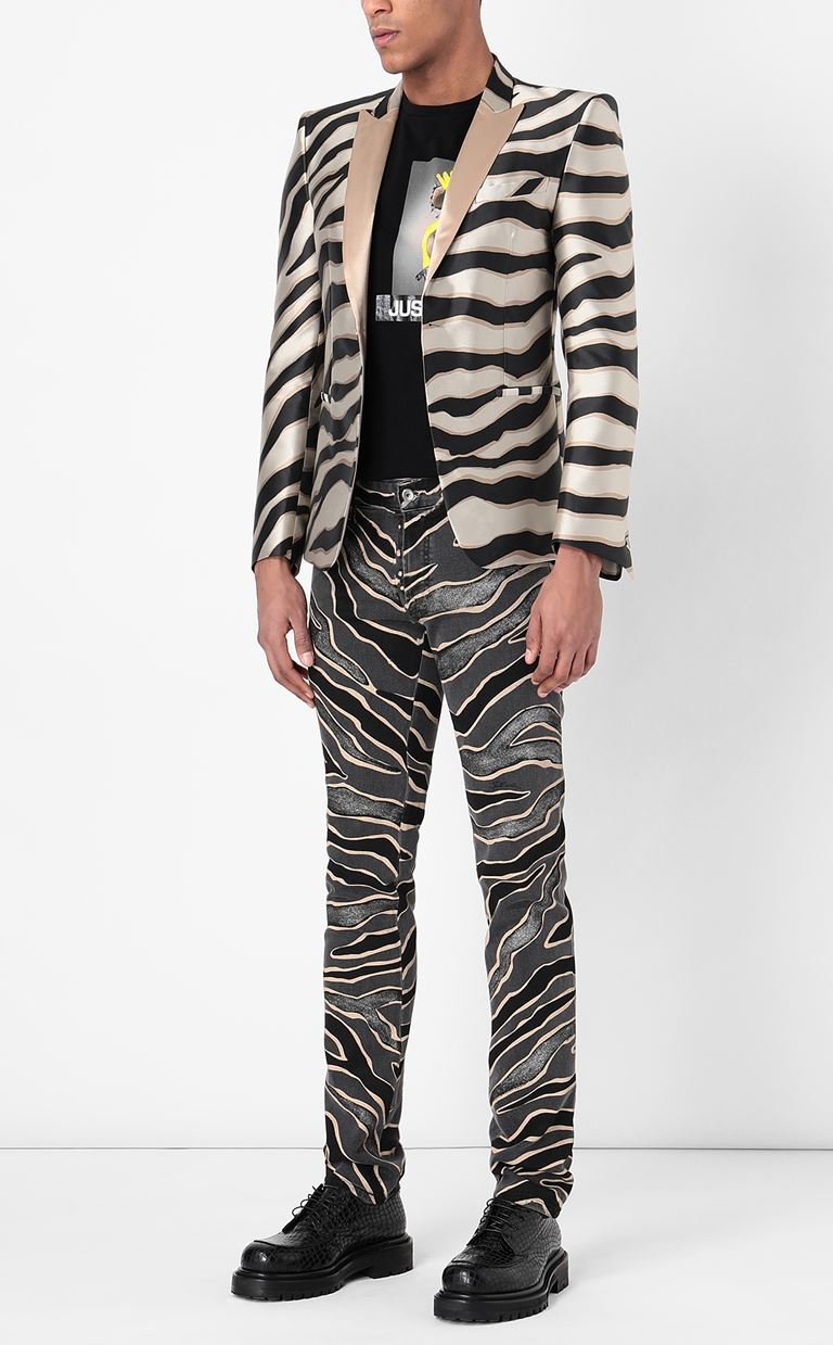JUST CAVALLI Jeans with animal patterning Jeans Man r
