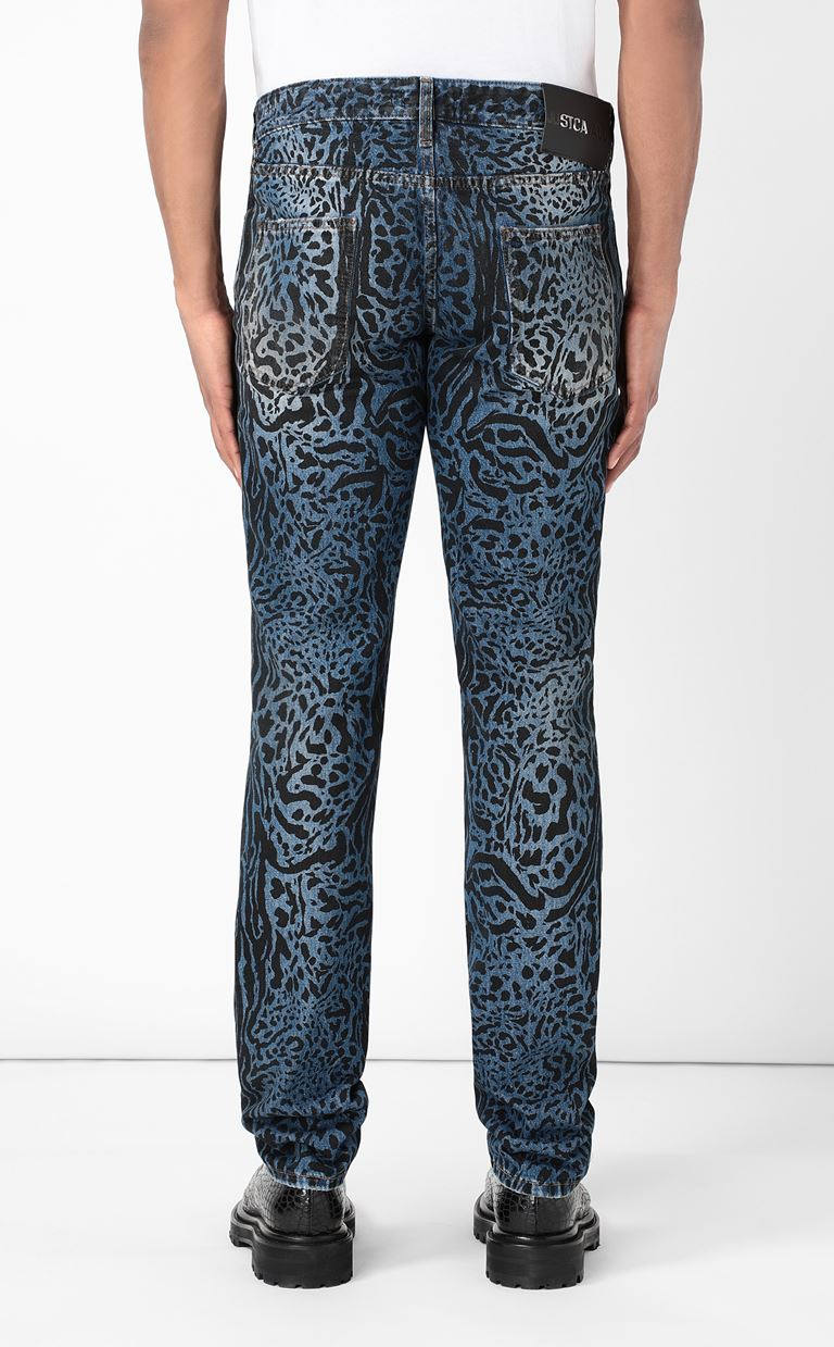 JUST CAVALLI Jeans with animal patterning Jeans Man e