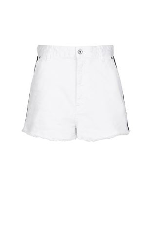 JUST CAVALLI Shorts Woman Leather shorts f