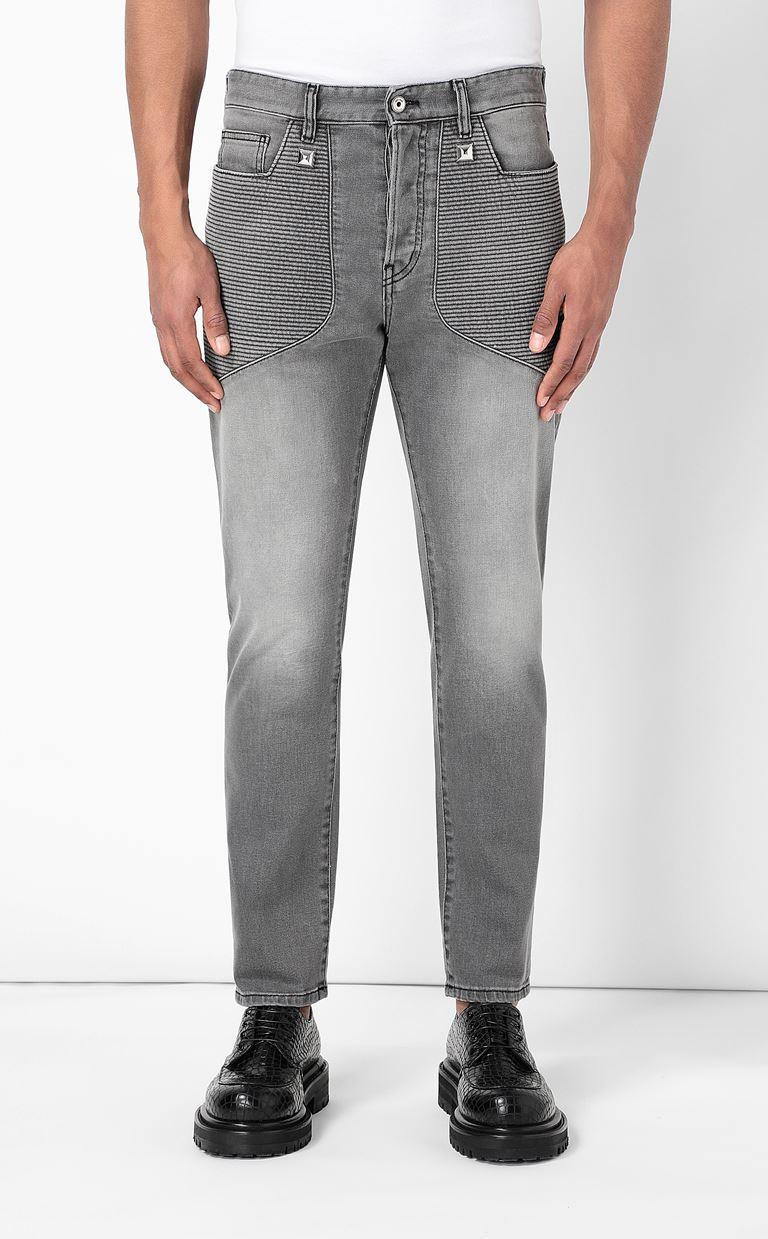 JUST CAVALLI Biker-style jeans Jeans Man r