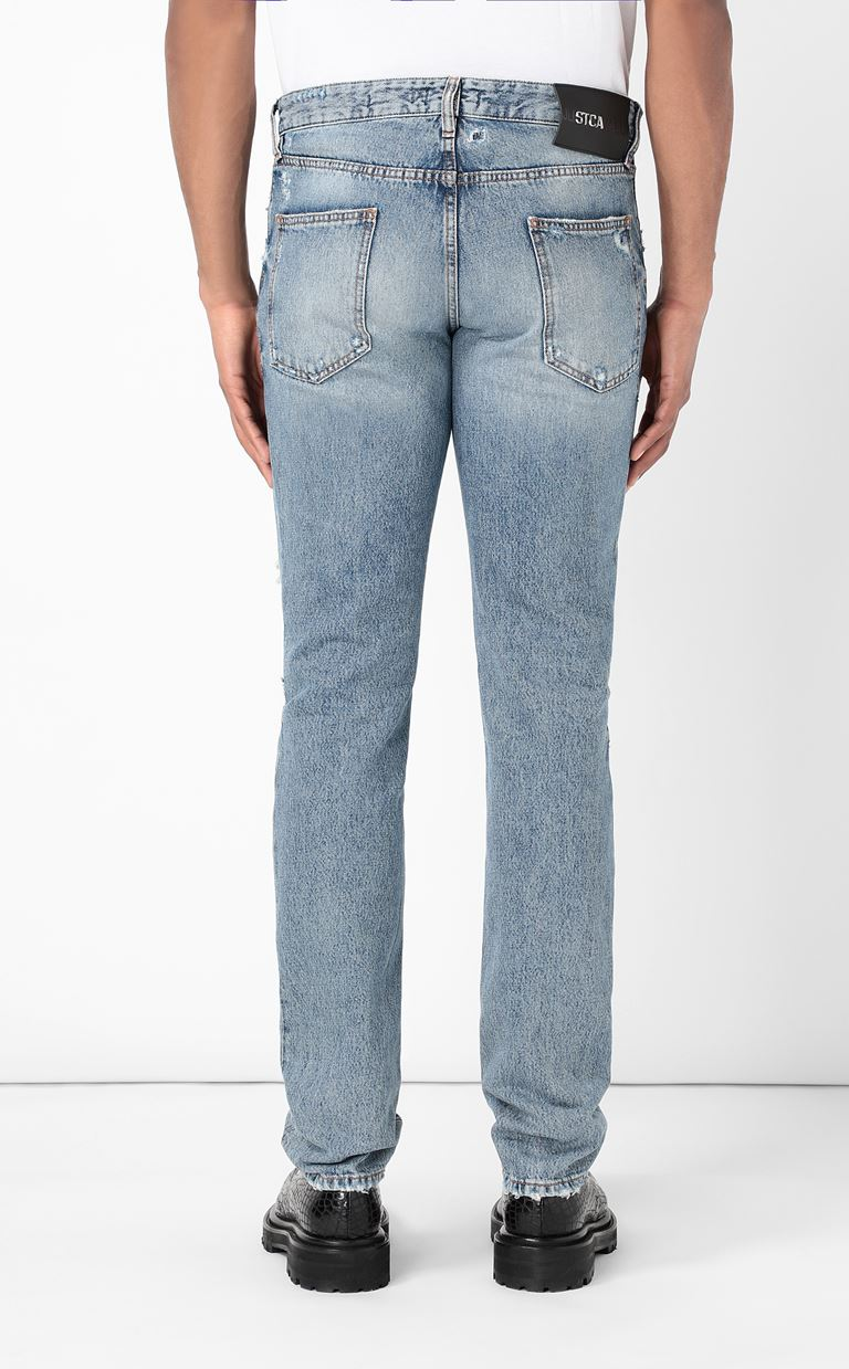 JUST CAVALLI Ripped jeans Jeans Man e