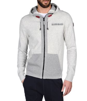 NAPAPIJRI BRADBURY MAN FULL ZIP FLEECE,LIGHT GREY