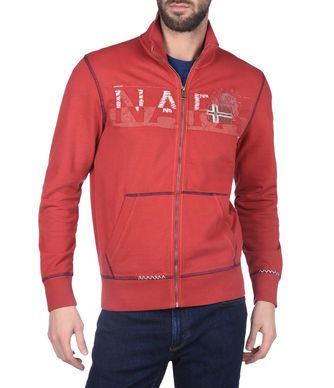 NAPAPIJRI BIVES  MAN FULL ZIP FLEECE,RED