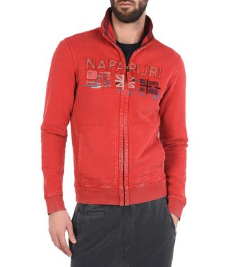 NAPAPIJRI BOBSON MAN FULL ZIP FLEECE,RED