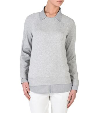 NAPAPIJRI BERBA WOMAN SWEATSHIRT,LIGHT GREY