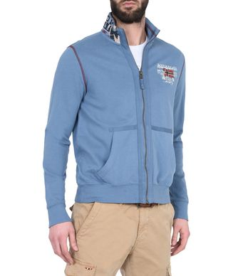 NAPAPIJRI BESTA MAN FULL ZIP FLEECE,SLATE BLUE
