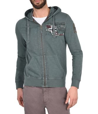 NAPAPIJRI BESERT MAN FULL ZIP FLEECE,BOTTLE GREEN