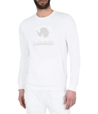 NAPAPIJRI BONANZA MAN SWEATSHIRT,BRIGHT WHITE