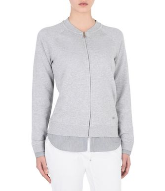 NAPAPIJRI BANES WOMAN FULL ZIP FLEECE,LIGHT GREY