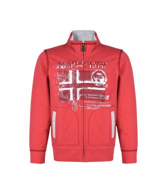 NAPAPIJRI K BANCHO KID KID FULL ZIP FLEECE,RED