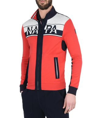 NAPAPIJRI BITAN MAN FULL ZIP FLEECE,RED