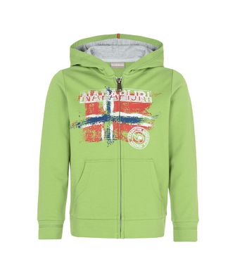 NAPAPIJRI K BOSE JUNIOR KID FULL ZIP FLEECE,LIGHT GREEN