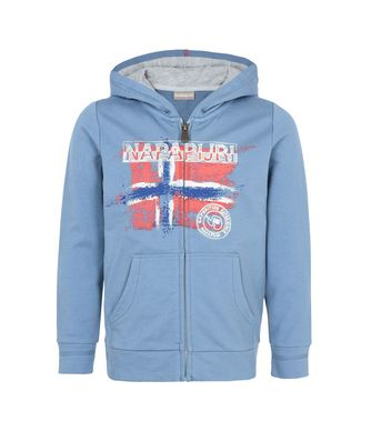 NAPAPIJRI K BOSE JUNIOR KID FULL ZIP FLEECE,SLATE BLUE