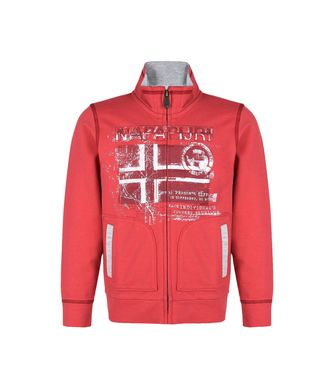 NAPAPIJRI K BANCHO JUNIOR KID FULL ZIP FLEECE,RED
