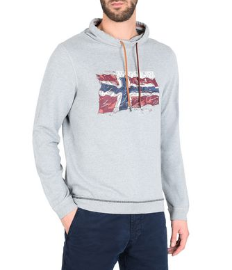 NAPAPIJRI BADDY MAN SWEATSHIRT,LIGHT GREY