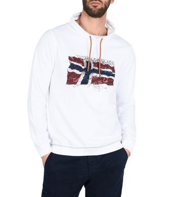 NAPAPIJRI BADDY MAN SWEATSHIRT,WHITE