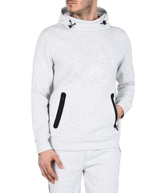 NAPAPIJRI BEAR HOOD MAN HOODIE,LIGHT GREY