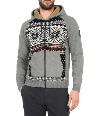 NAPAPIJRI DAKETI MAN ZIP SWEATSHIRT,GREY