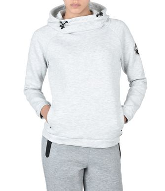NAPAPIJRI BEAR  HOOD WOMAN HOODIE,LIGHT GREY