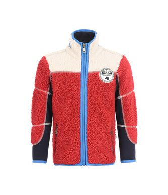 NAPAPIJRI K YUPIK KID KID ZIP SWEATSHIRT,RED
