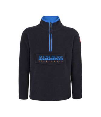 NAPAPIJRI K TAMBO HALF KID HALF ZIP FLEECE,DARK BLUE
