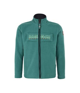 NAPAPIJRI K TAMBO FULL ZIP KID KID FLEECE,EMERALD GREEN