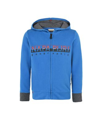 NAPAPIJRI K BOYSTER FULL ZIP KID KID HOODIE,BLUE