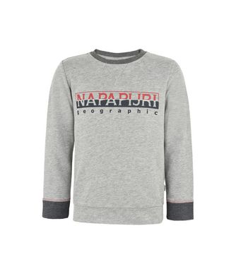 NAPAPIJRI K BOYSTER KID KID SWEATSHIRT,LIGHT GREY