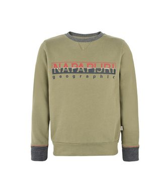 NAPAPIJRI K BOYSTER KID KID SWEATSHIRT,MILITARY GREEN