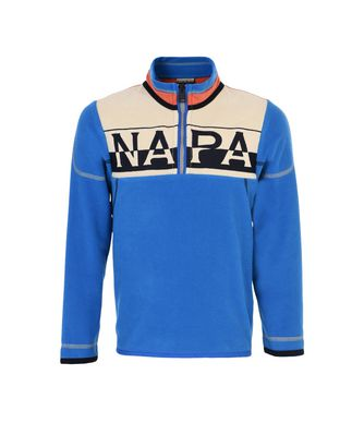 NAPAPIJRI K TIF HALF KID HALF ZIP FLEECE,AZURE